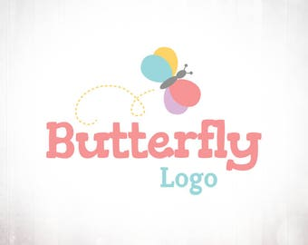 Premade Logo Design • Kids Butterfly