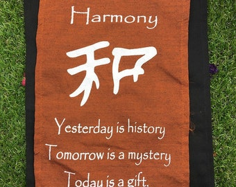 Harmony Affirmation Hanging! Positive Affirmations! Hanging Decor!