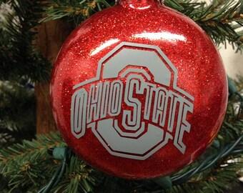 Holiday Christmas Tree Ornament College Football Ohio State Buckeye