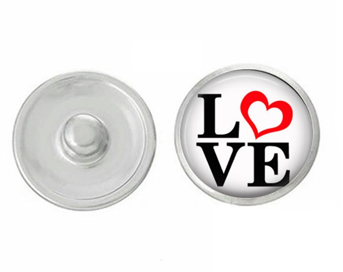 Love Snap - Compatible with Studio66 LLC -  Gingersnaps - Magnolia and Vine - Noosa 18-20mm Base - Handpressed Snaps