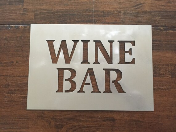 Wine Bar metal sign