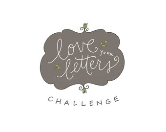 Love Your Letters Challenge: handwriting class, self-paced, PDF
