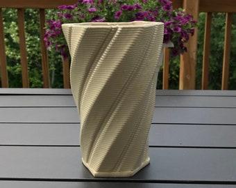Twisting Ceramic Vase