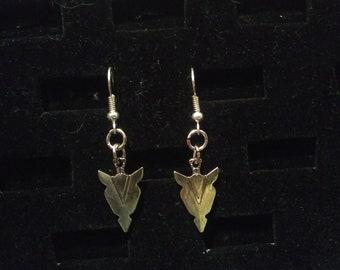 Steampunk Arrowhead Earring