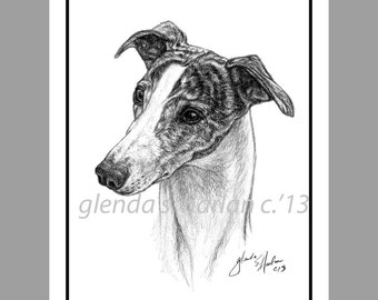 Whippet Dog Note Cards - Eight Pack