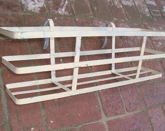 SOLD *** Three (3) French Bistro Mid Century Industrial Wrought Iron Garden Fence - Window Boxes