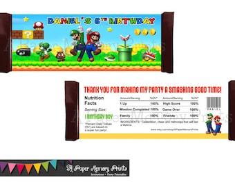Super Mario Bros. Candy Wrapper - DIY Printable