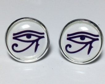 Egyptian Eyes Earrings Egyptian Jewelry Protection Earrings