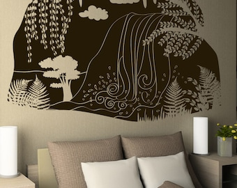Vinyl Wall Decal Sticker Waterfall Cave View OSDC667B