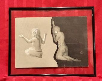 Original framed artwork. Waylay - Contact