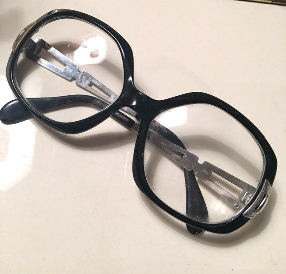 Vintage lady's black frames by Meltzer made in germany eyewear glasses