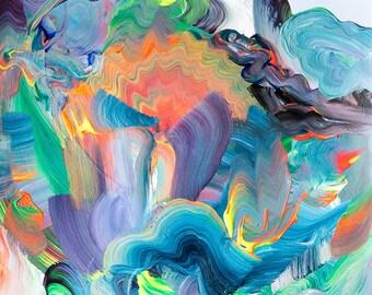 Over the Hills III – Abstract Landscape Series – Original Artwork