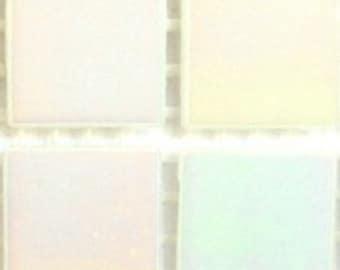 "WA02065 3/4"" White Diamond Iridescent Glass Mosaic Tiles-25 pc//Mosaic//Discount Mosaic Supplies"