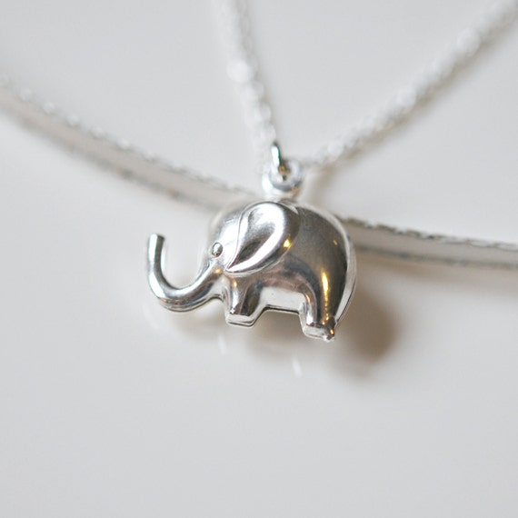 Silver elephant necklace sterling silver elephant pendant aloadofball Gallery