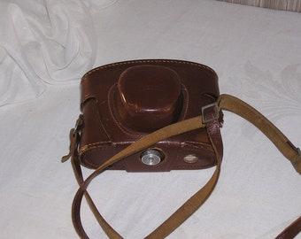 Old photo camera, Voigtlander, original protective cover