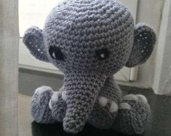 Elephant crochet Amigurumi/elephant crochet/Elephant amigurumi/child/girl/crochet Amigurumi elephant/toy
