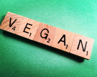 Scrabble VEGAN Magnet - All PROCEEDS to CHARITY!