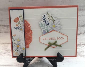 Get Well Card, Get Well Soon, Handmade Card, Floral Card, Stampin' Up! Daisys