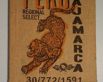 Jaguar (Peru) Coffee Bag Wall Hanging