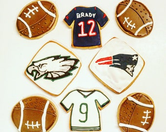 Superbowl cookies- 1 dozen