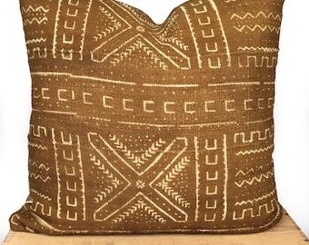 Indigo Mudcloth Pillow Cover Bogolanfini Linen White Navy