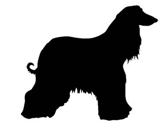 DIY Afghan Dog Vinyl Decal, Afghan Owners, Laptop Decal, Tablet Decal, Cell Phone Decal, Drinkware Decal, Glassware Decal, Dog