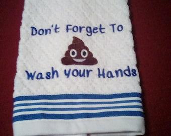 Poop Emoji Towel