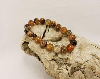 Spiderweb Agate stretch cord bracelet