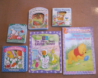 6 Easter Books-Vintage Hallmark Easter Books-Kids Easter Books-Winnie the Pooh Easter Books-Pooh's Easter Egg Hunt