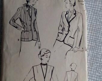 "1950s Blazer Jacket - 35"" Bust - Butterick 5190 - Vintage Sewing Pattern"