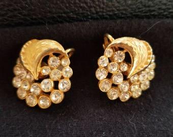 Vintage clip on wedding earrings