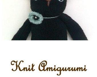 Sale - Amigurumi Knit Cat Pattern Digital Download