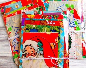 Custom Listing For Diane / Vintage Christmas Wrap Paper Pack