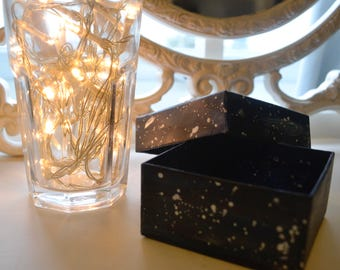 TWO handmade starry gift boxes