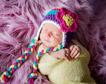 newborn girl hat, baby hat, newborn hat, girls hat,  baby girl hat, newborn girls hat, crochet girls hat, girls hat, newborn hat, .