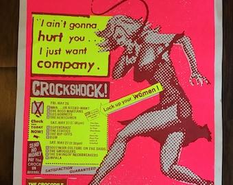 Crockshock gig poster Art Chantry, 17.5 x 23