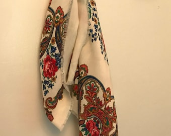 Vintage JP Collections Pattern Scarf