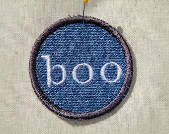 Boo Ghost Halloween Patch / Merit Badge