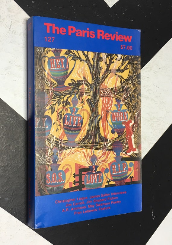 The Paris Review Vol. 35 No. 127 edited by George Plimpton blue vintage classic literary anthology book (Softcover, 1993)