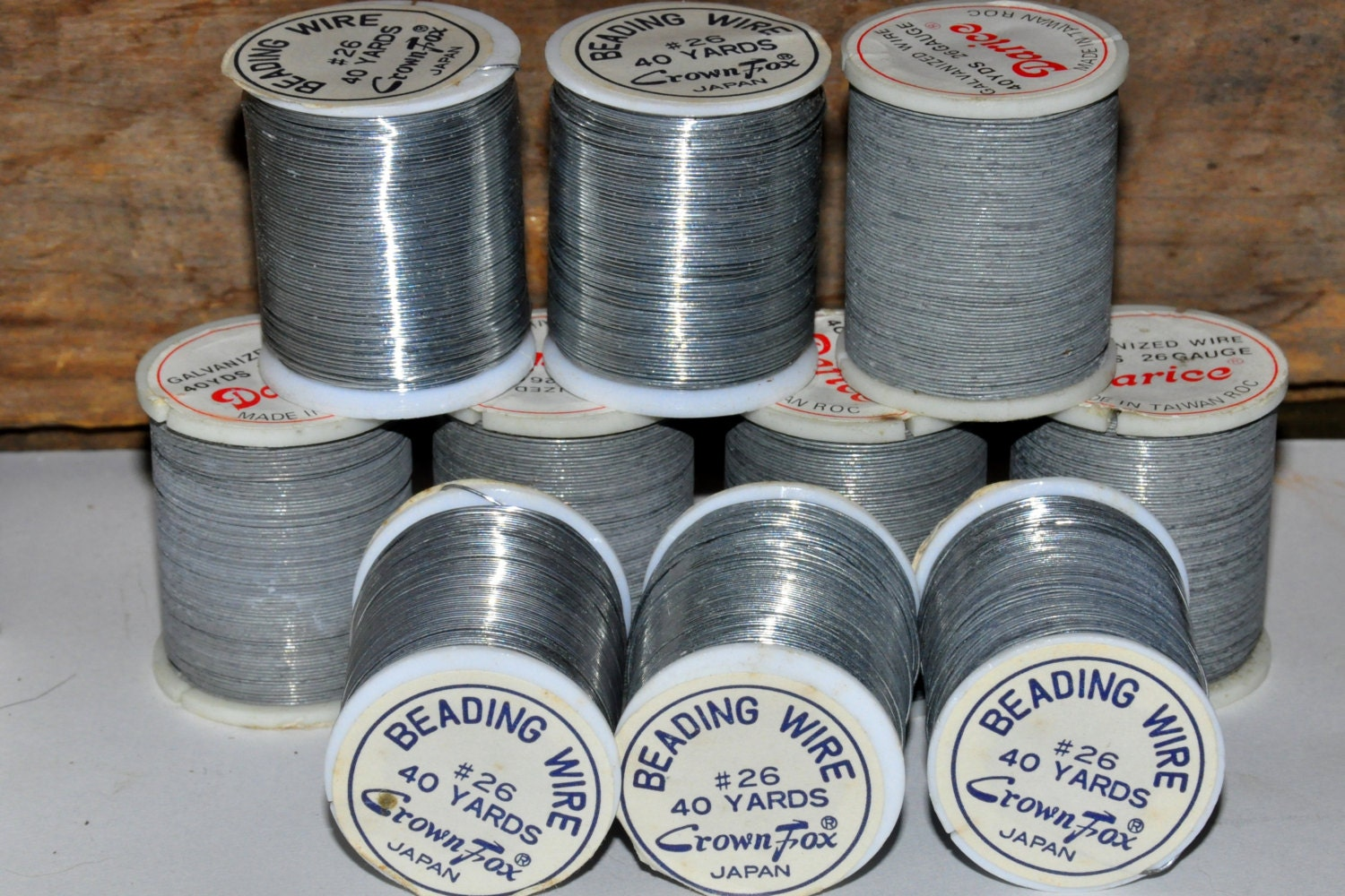 Silver Beading Wire. 26 Gauge Wire. Flexible Wire. Vintage Crafts ...