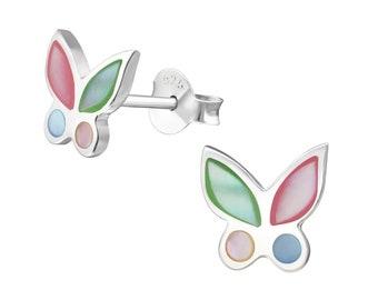 Sterling Silver Butterfly Studs Earrings