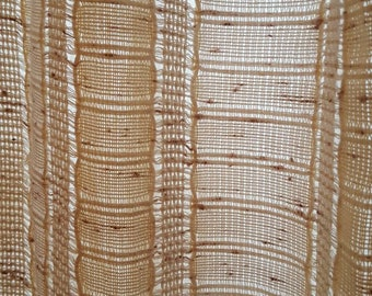 Vintage Curtains, Retro Curtains, Vintage Kitchen, Window Panels, Vintage Curtain, Linen, Brown Curtains, Kitchen Curtains, Beige Curtain
