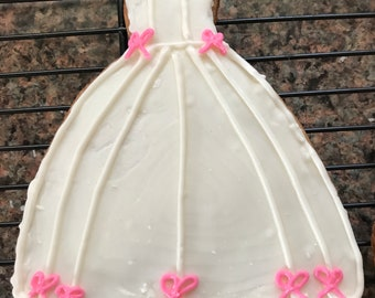 gown cookie favors
