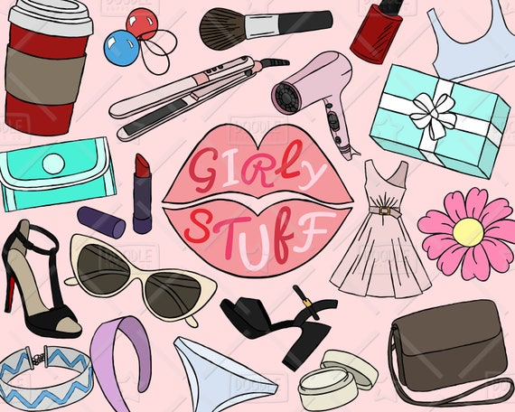 Girly Stuff Clipart Vector Pack Girly Things Girly Clipart