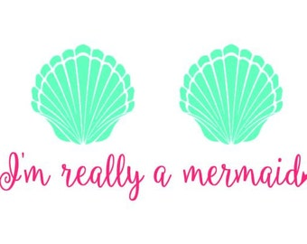 I'm Really A Mermaid instant download cut file for cutting machines - SVG DXF EPS ps studio3 studio