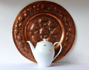 vintage white and gold porcelain tea pot, COFV48