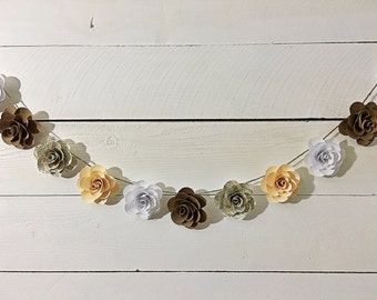 Customizable Handmade Paper Flower Garland- 9 ft.