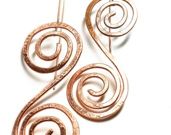 Whirls Statement Earrings