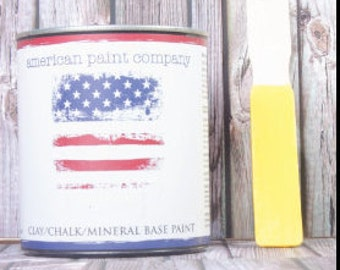 A-Maize-ing yellow color American Paint Company APC chalk clay paint DIY quart furniture distress shabby chic qt