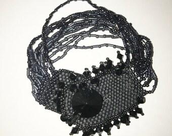 Multi-Strand Bracelet in Ombre Grey and Black